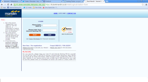 screenshoot mandiri banking